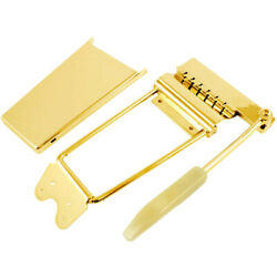 Long Vibrato /tremolo Lyre Vibrola With Arm And Cover For Gibsonandreg Guitars - Gold