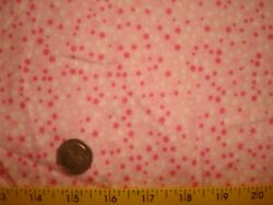 Tiny Bright Pink and White Stars on Pink Snuggle Flannel 100% Cotton BTY