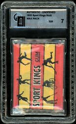 1933 Sports Kings Unopened Multi Card WAX PACK with 5 Cards GAI 7 NM