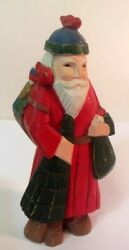 Vtg Midwest Of Cannon Falls Mn Father Christmas Santa Carved Folk Art Birds
