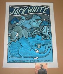 Jay Ryan Jack White Chicago Concert Poster Print Signed Numbered Art 2018