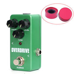 Overdrive Guitar Pedal Electric Guitar Effect Pedal with Footswtich Topper