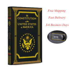 Portable Diversion Book Safe With Combination Lock Constitution Of The Us