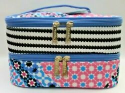 Modella Fashion Forever Double Zip Train Case Fully lined Bag BRAND NEW with TAG $21.97
