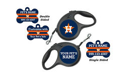 Houston Astros Pet Id Dog Tags Retractable Leash Personalized for Your Pet $16.97