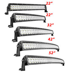 Led Light Bar 22 In 32 In 42 In 50 In Curved Truck Lamps Off Road For Jeep Vs 52