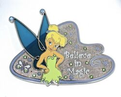 Le Disney Jumbo Pin✿tinker Bell Tink Believe In Magic Stained Glass Butterfly Le