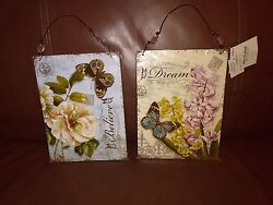 quot;Believequot; quot;Dreamquot; Inspirational Wall Hanging Decorations Set of 2