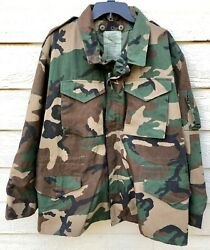 Genuine Usaf Nomex Fire Resistant Aircrew Cold Weather Woodland Jacket - Large