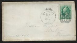 1870's Cover To Milwaukee Wisconsin, Shield Cancel On Scott 136 Grill.