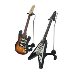 Electric Guitar Model V-type Swallowtail SRV Guitar Miniature Music Lover Gift