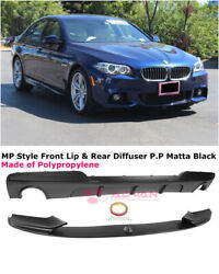 For 11-16 Bmw 5 Series F10 535i W/ M Sport   Mp Style Rear Diffuser And Front Lip