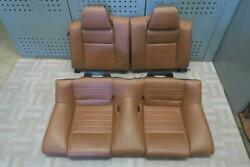 2011 FORD MUSTANG Rear Seat Set Cpe brown leather OEM