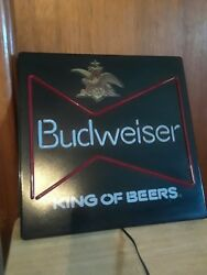 Anheuser Busch Vintage Budweiser King Of Beers Neon Light Sign