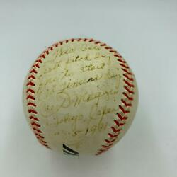 Joe Dimaggio Signed First Pitch Baseball From Tokyo Japan Old Timers Day Jsa