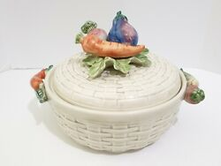 Fitz And Floyd 2 Qt Round Covered Casserole Kitchen Harvest