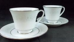 Noritake Cumberland 2 Cup And Saucer Sets 2225 Great Condition