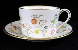 Coalport Brookdale Smooth Edge Cup And Saucer Bone China Gold Trim Great Condition