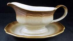 Mikasa Whole Wheat Gravy Boat With Underplate E8000 Showroom Inventory Mint