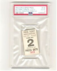 1909 World Series Ticket Detroit Tigers Pittsburgh Pirates Forbes Field Gm2 Psaa