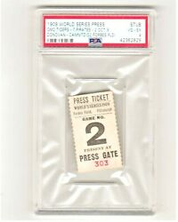 1909 World Series Ticket Detroit Tigers Pittsburgh Pirates Forbes Field Gm2 Psa