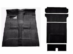 Acc 55-57 Chevy Nomad 2-door Wagon Black Molded Complete Carpet Rug Front And Rear