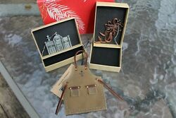Starbucks 2016 Roastery Ornaments Set Of 4, Apron, Roastery And Siren 1st Edition