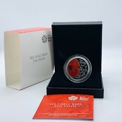 Scarce 2013 Rm Silver Proof Alderney Remembrance Day Andpound5 Five Pound Poppy Coin