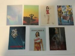 Lot Of 7 Misc Adult Trading Cards Pinup, Hologram, And More