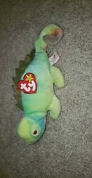 Ty Beanie Baby Iggy. With Tounge Out. Rare Find Mint Condition