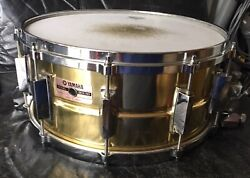Yamaha Sd416 Brass Snare Drum 14 X 61/2 Cast Hoops New Snare Wire