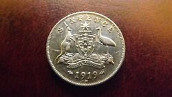 Sixpence 1919 High Extra Fine Rare High Value Coin