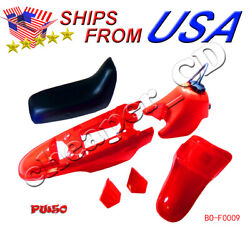 For Yamaha Pw50 Py50 Pw 50 Plastic Fender Body Seat Gas Tank Kit Red