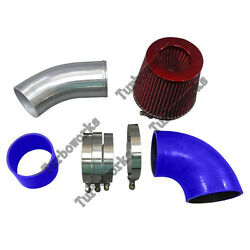 3.5 Universal Na Cold Air Intake Pipe Kit For Gm Ls1 Lsx Lmx Lqx Motor