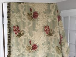 Exquisite Custom Crushed Velvet Drapes Curtain 48 X 76 French Decor Lined