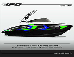 Ipd Boat Graphic Kit For Yamaha 242 Limited, Sx240, Ar240 Kw Design