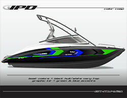 Ipd Boat Graphic Kit For Yamaha 212x, 212ss, Sx210, And Ar210 Kw Design