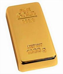Paper Weight Gold Finish Metal Bright Colorful Design Robust And Heavy Shine