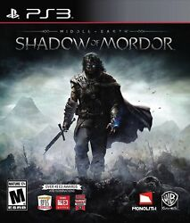Middle-earth Shadow Of Mordor Ps3 [brand New]
