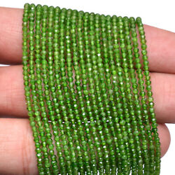 Natural Chrome Diopside Gemstone 2mm-2.5mm Faceted Rondelle Beads 13inch Strand