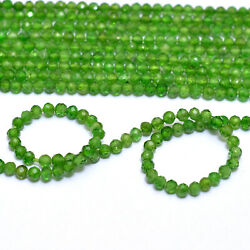 Chrome Diopside Precious Gemstone 2mm-2.5mm Faceted Rondelle Beads 13inch Strand