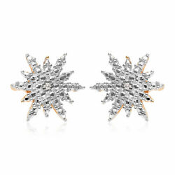 925 Sterling Silver Yellow Gold Plated Diamond Bridal Stud Solitaire Earrings $14.99