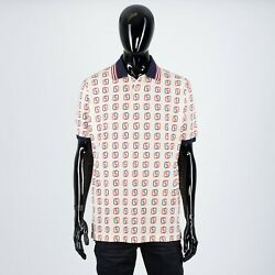 980 Oversize Polo Shirt With Interlocking G Print In Ivory
