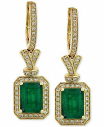 1.84ct Natural Round Diamond Emerald 14k Yellow Gold Clip On Huggie Earring