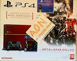 Metal Gear Solid V The Phantom Pain Limited Edition Ps4 Console + Bonuses