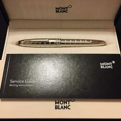 Mont Blanc fountain pen platinum plate facet # 146 Le Grand