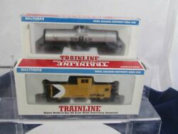 Walthers Trainline Ho Sinclair Tank Car And Cp Rail Wide Vision Cabbose Nibs