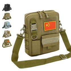Tactical Backpack Messenger Bag Men Military Camo Waterproof Crossbody Bags $17.99
