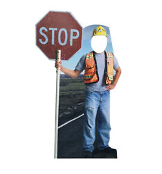Construction Worker Standin - Life Size Standup/cutout Brand New - Party 3034