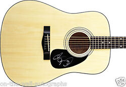 Adam Sandler Hand Signed Autographed Acoustic Guitar Rare With Proof + C.o.a.